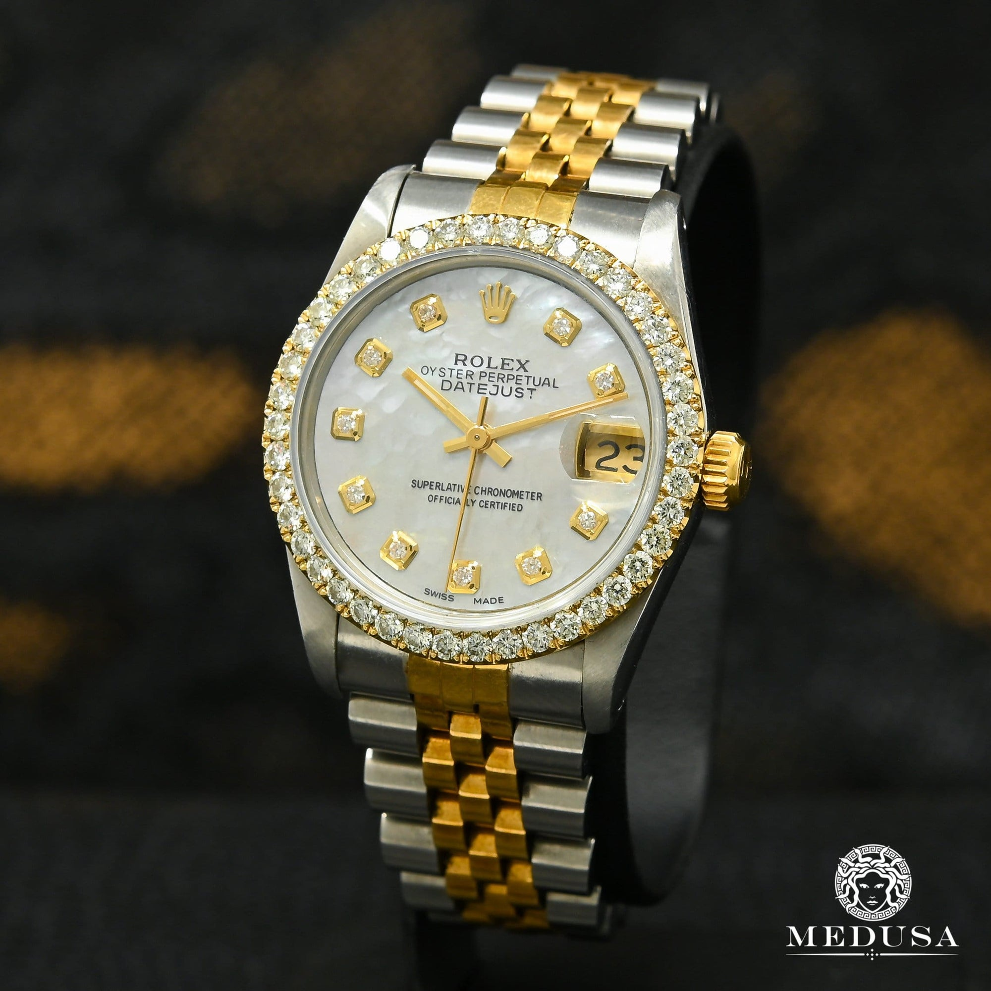 Rolex Lady-Datejust 31mm - White `` Mother of Pearl ''