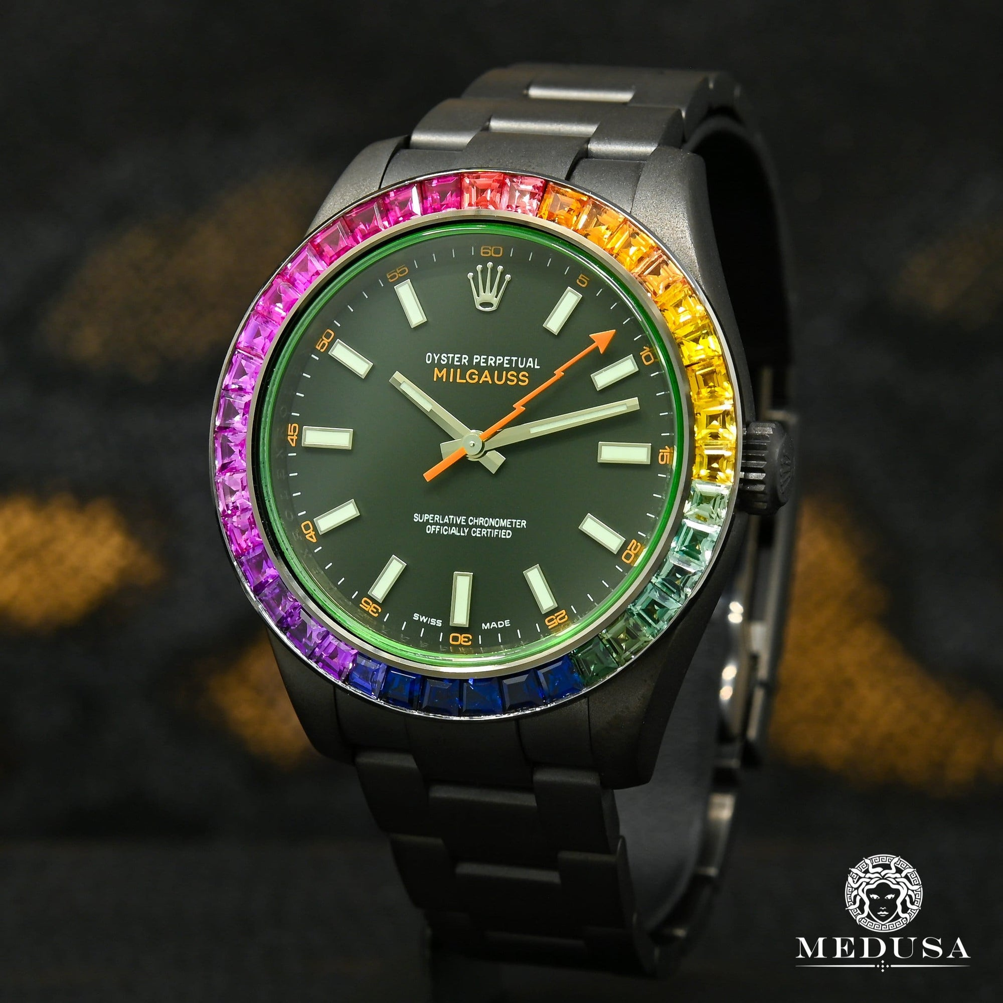 Rolex Milgauss 40mm - Black Rainbow
