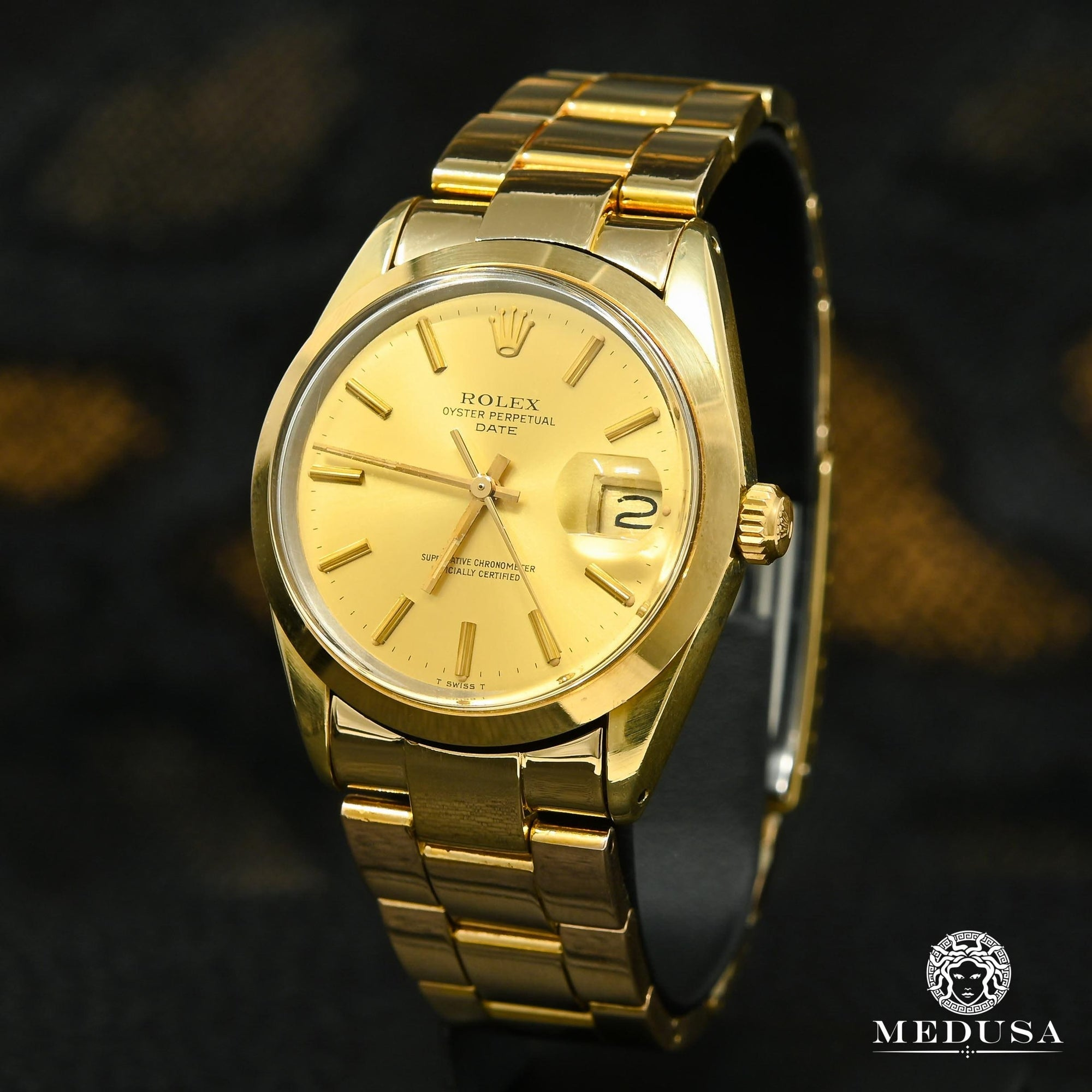 Rolex Oyster Perpetual Date 34mm - Gold Vintage