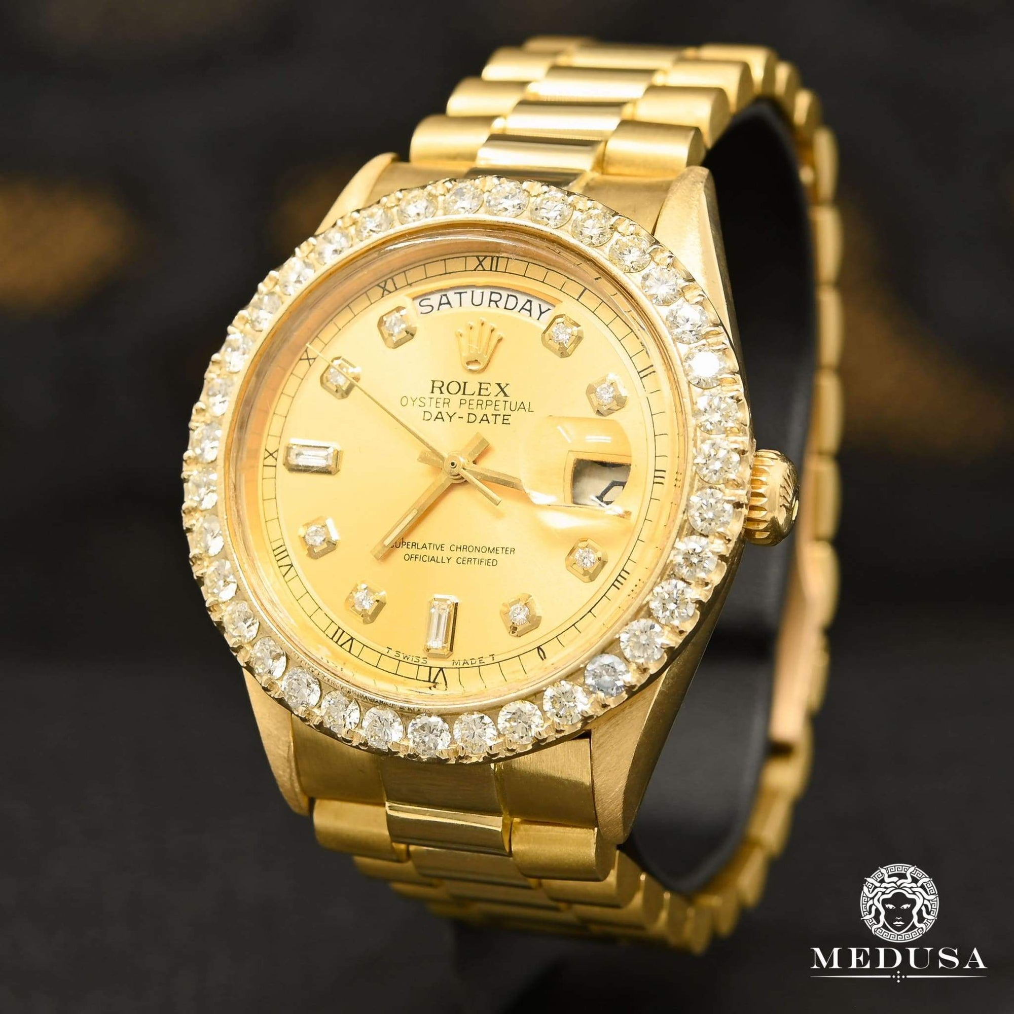 Rolex President Day-Date 36mm - Baguette Or
