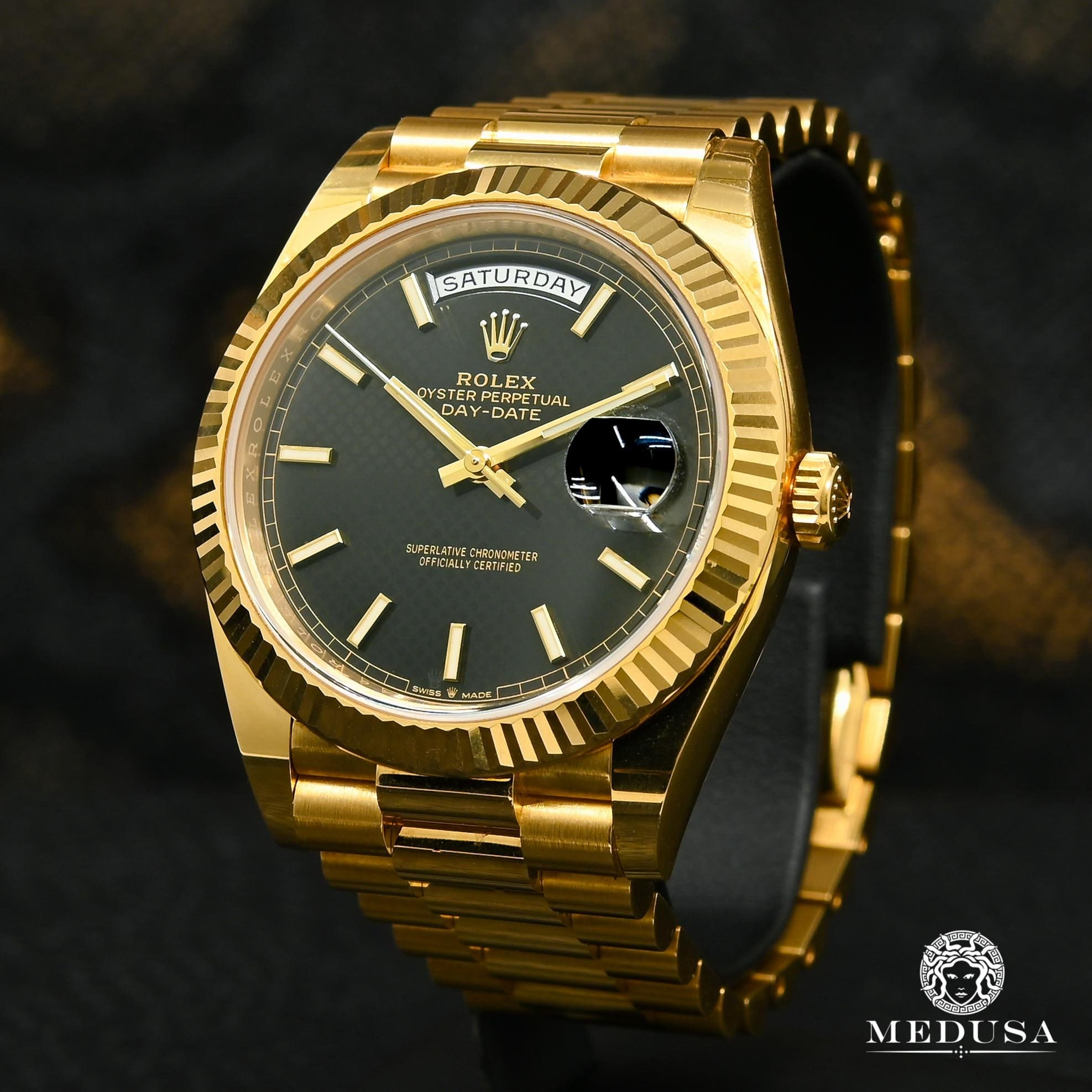 Rolex President Day-Date 40mm - Black Diagonal