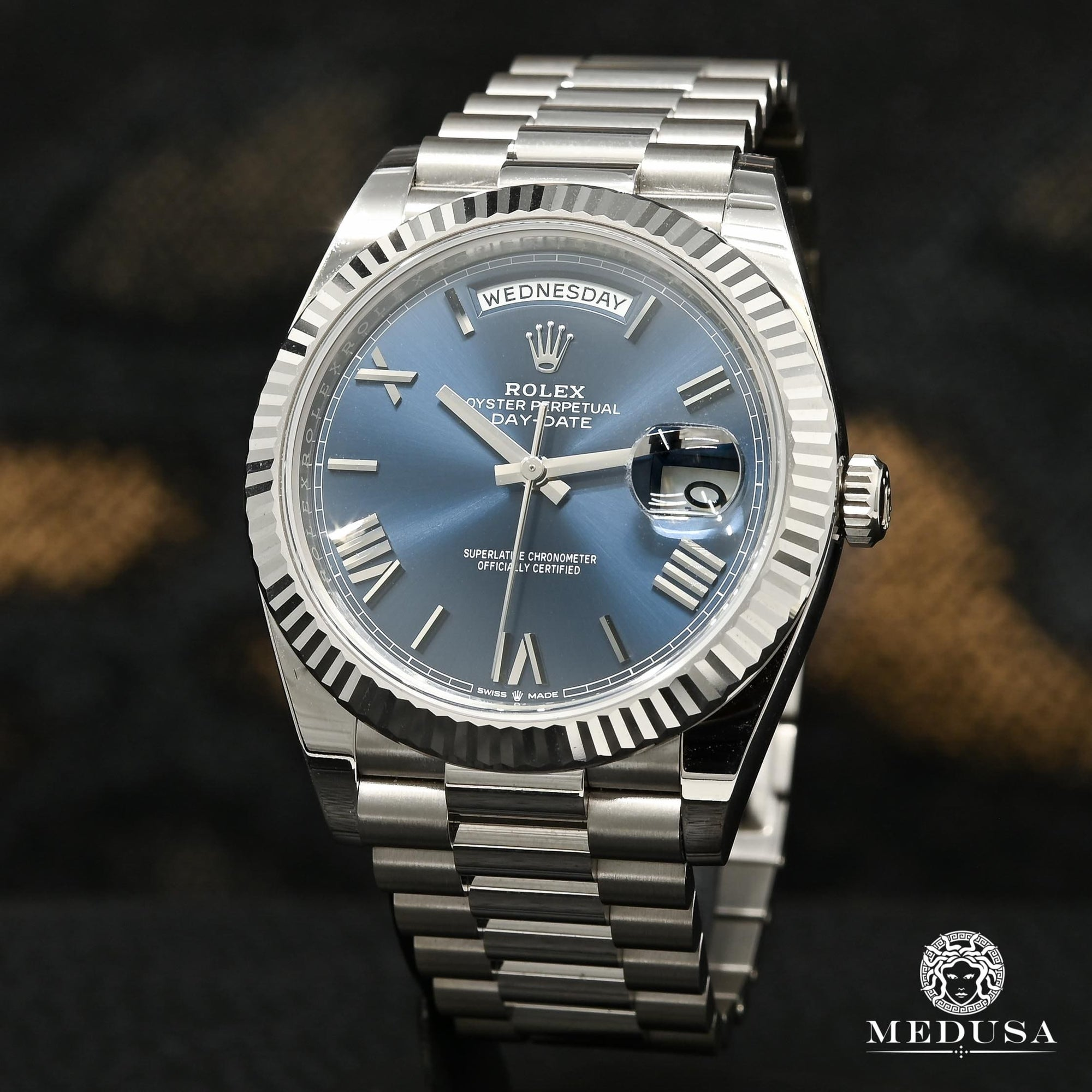 Rolex President Day-Date 40mm - Bleu Or Blanc