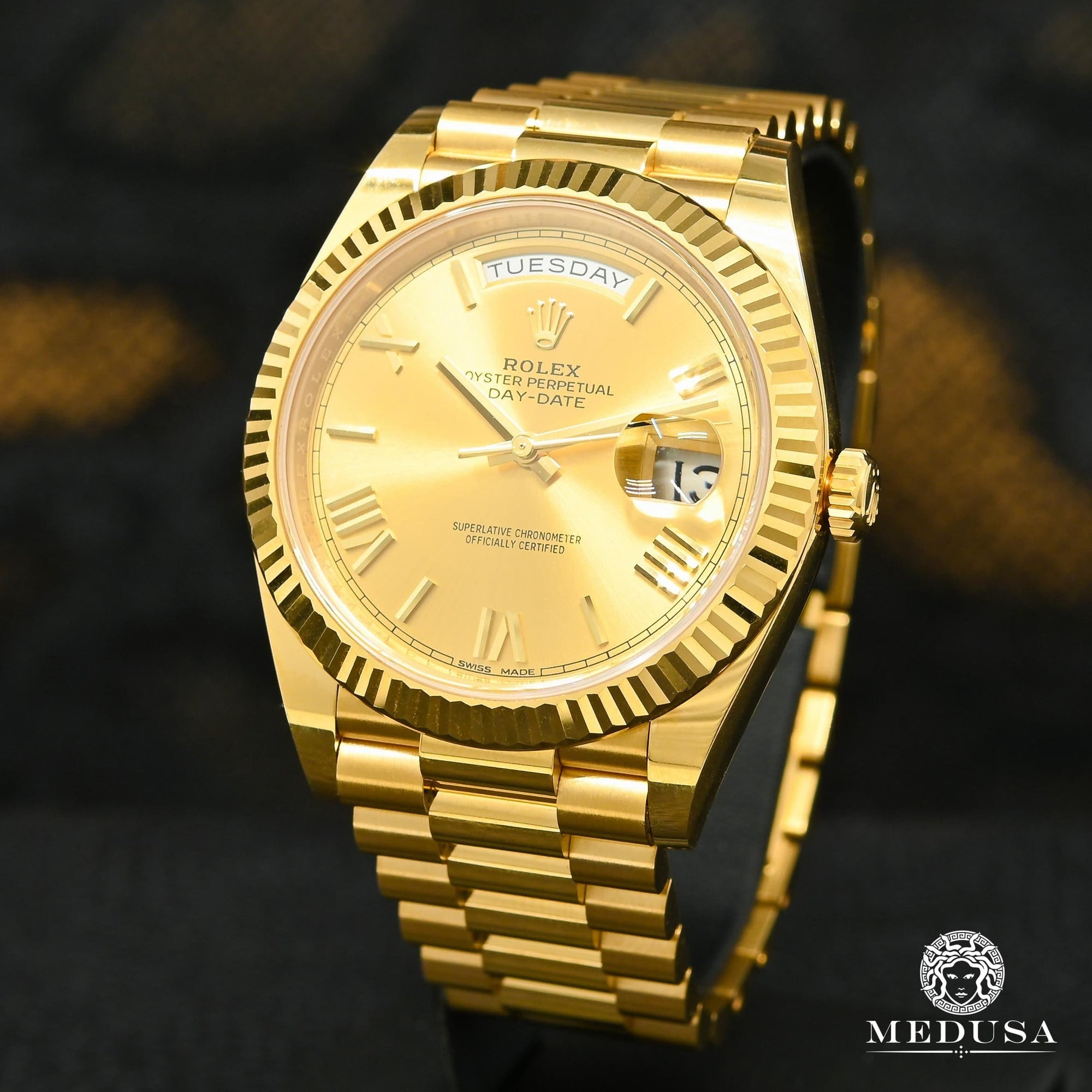 Montre Rolex | Montre Homme Rolex President Day-Date 40mm - Champagne Or Jaune