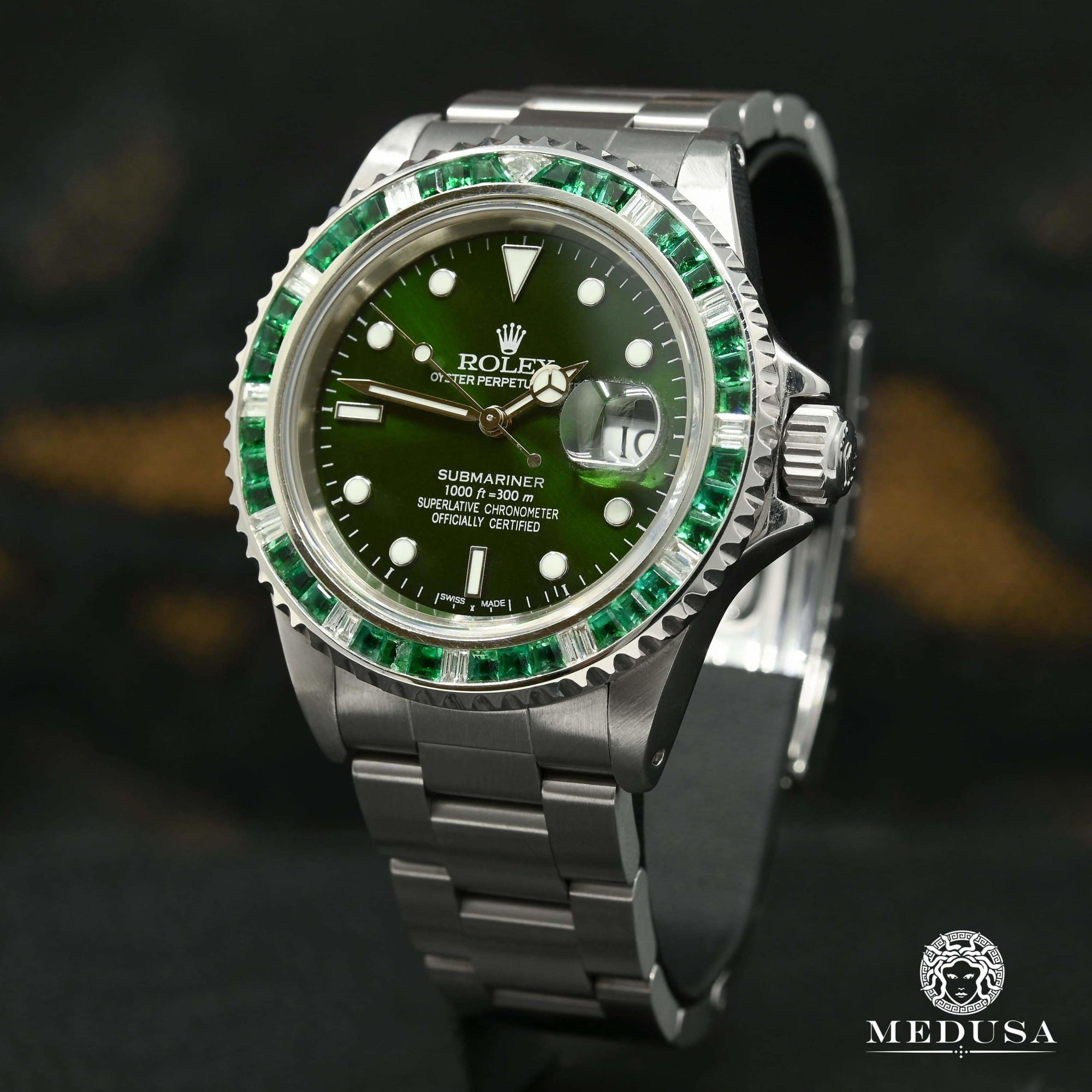 Rolex Submariner 40mm - Hulk Diamond & Emerald