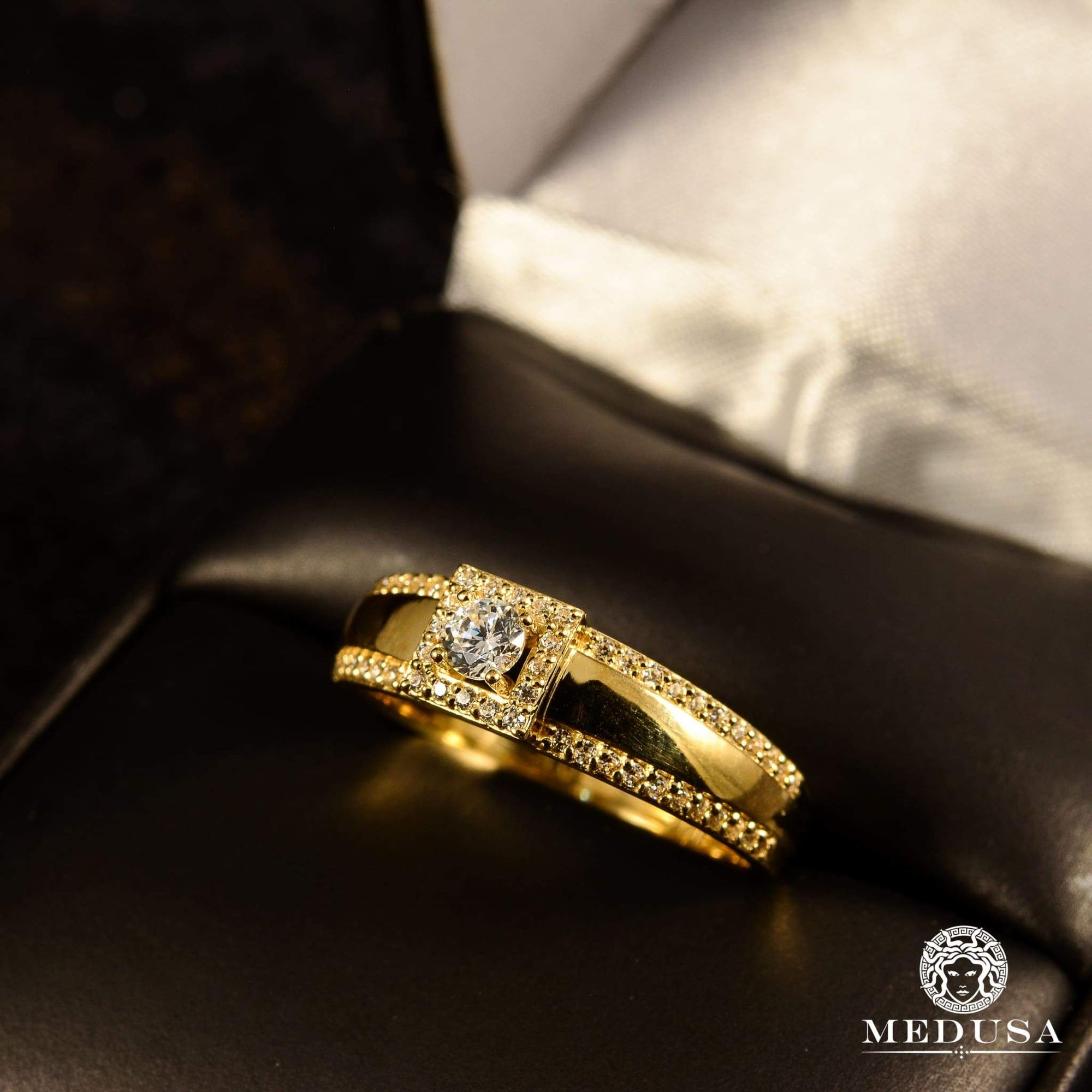 Bague à Diamants en Or 14K | Bague Fiançaille Solitaire F16 - MA0797