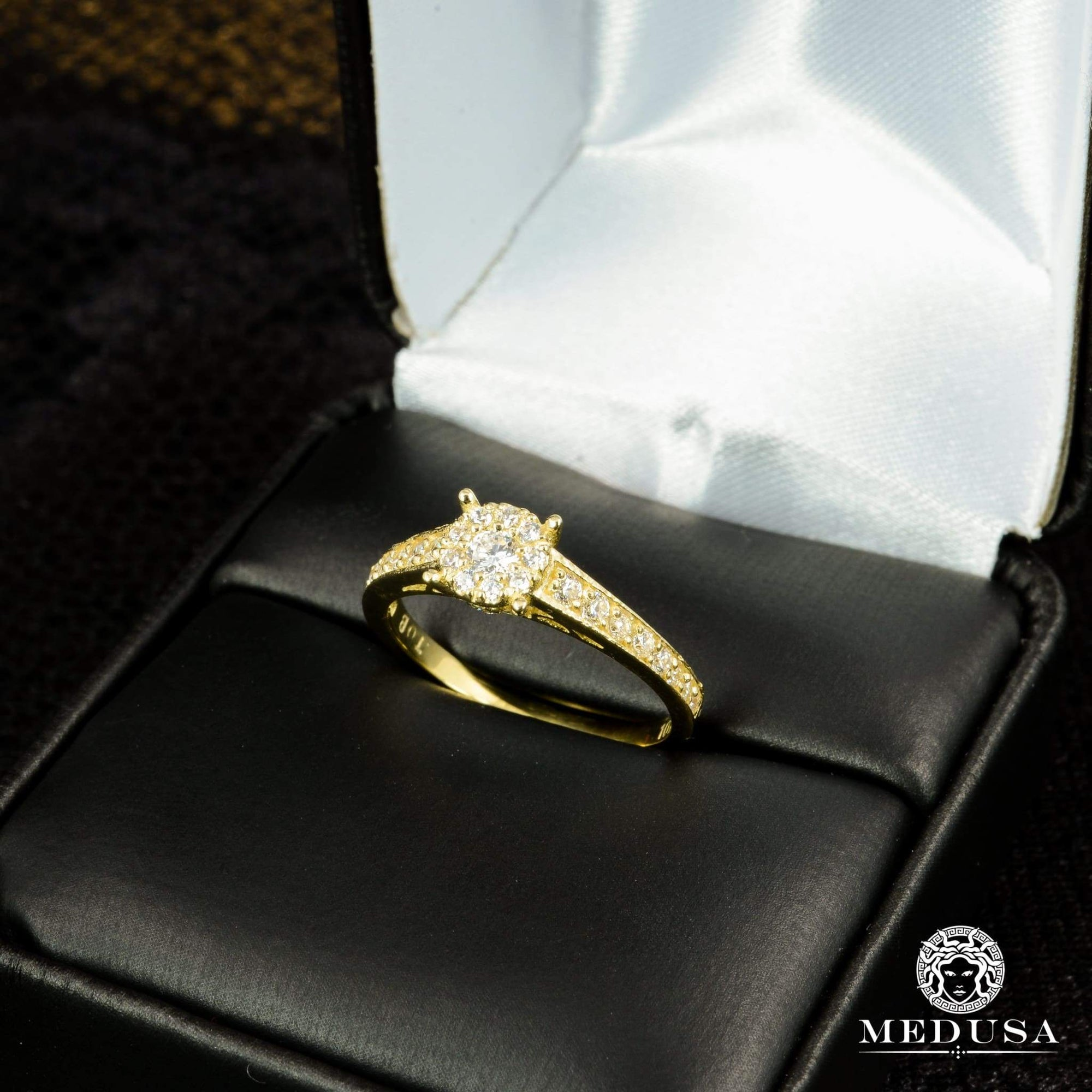 Bague à Diamants en Or 14K | Bague Fiançaille Solitaire F23 - MA0750