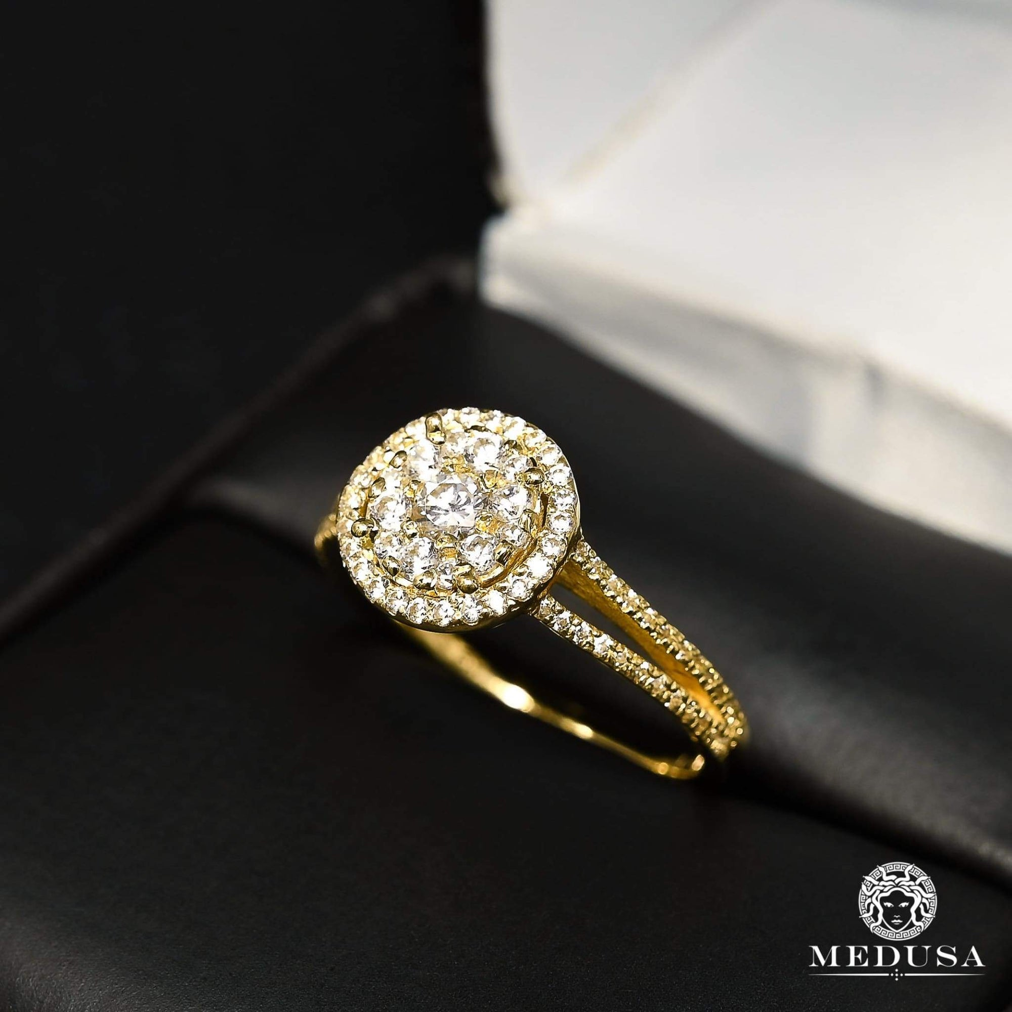 Bague à Diamants en Or 14K | Bague Fiançaille Solitaire F28 - MA0881 Or Jaune