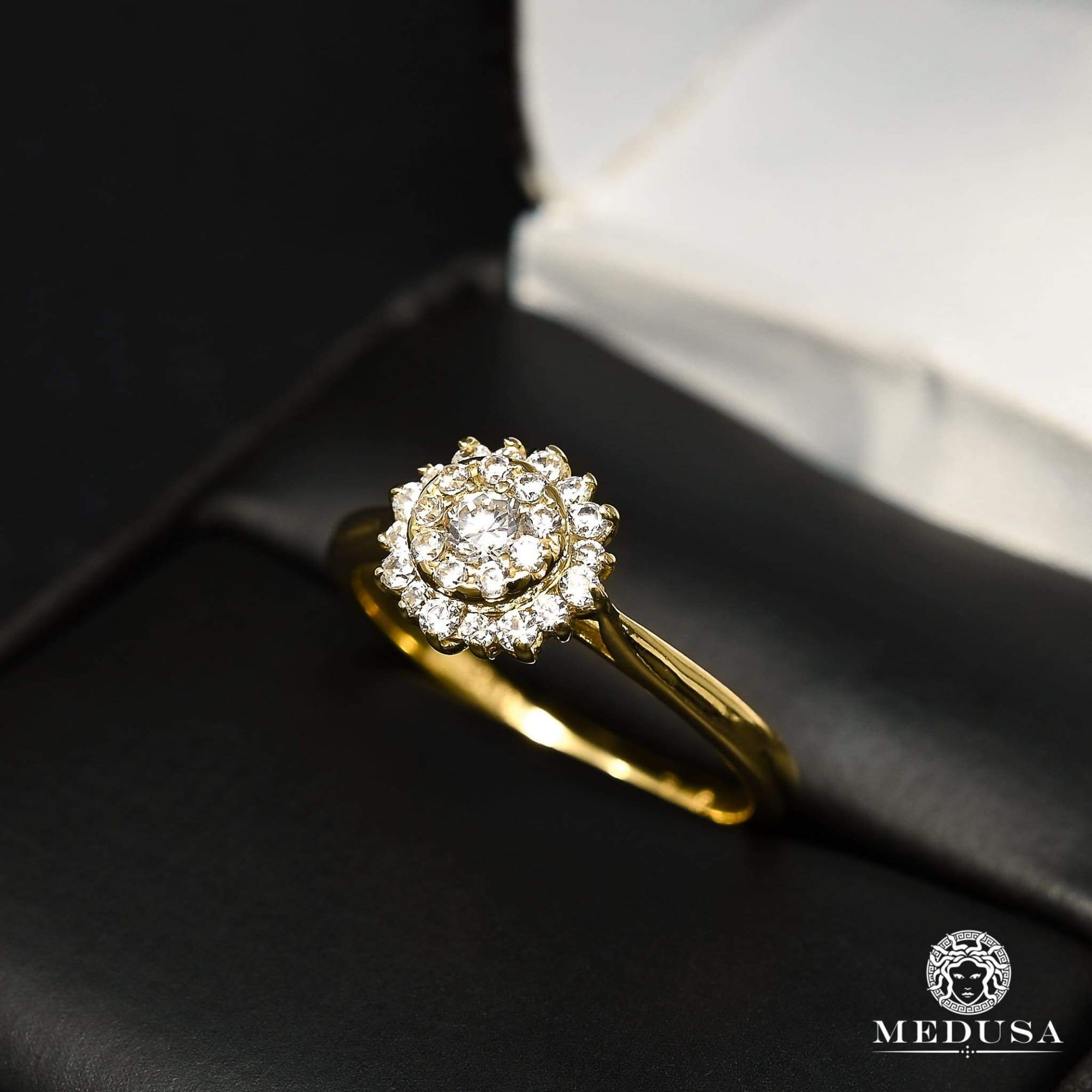 Bague à Diamants en Or 14K | Bague Fiançaille Solitaire F29 - MA0860 Or Jaune