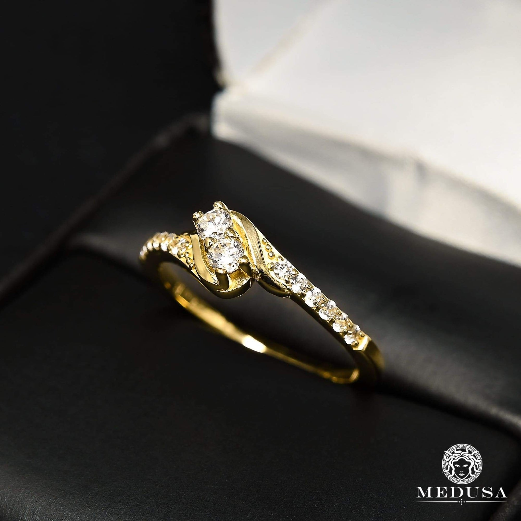 Bague à Diamants en Or 14K | Bague Fiançaille Solitaire F32 - MA0845 Or Jaune