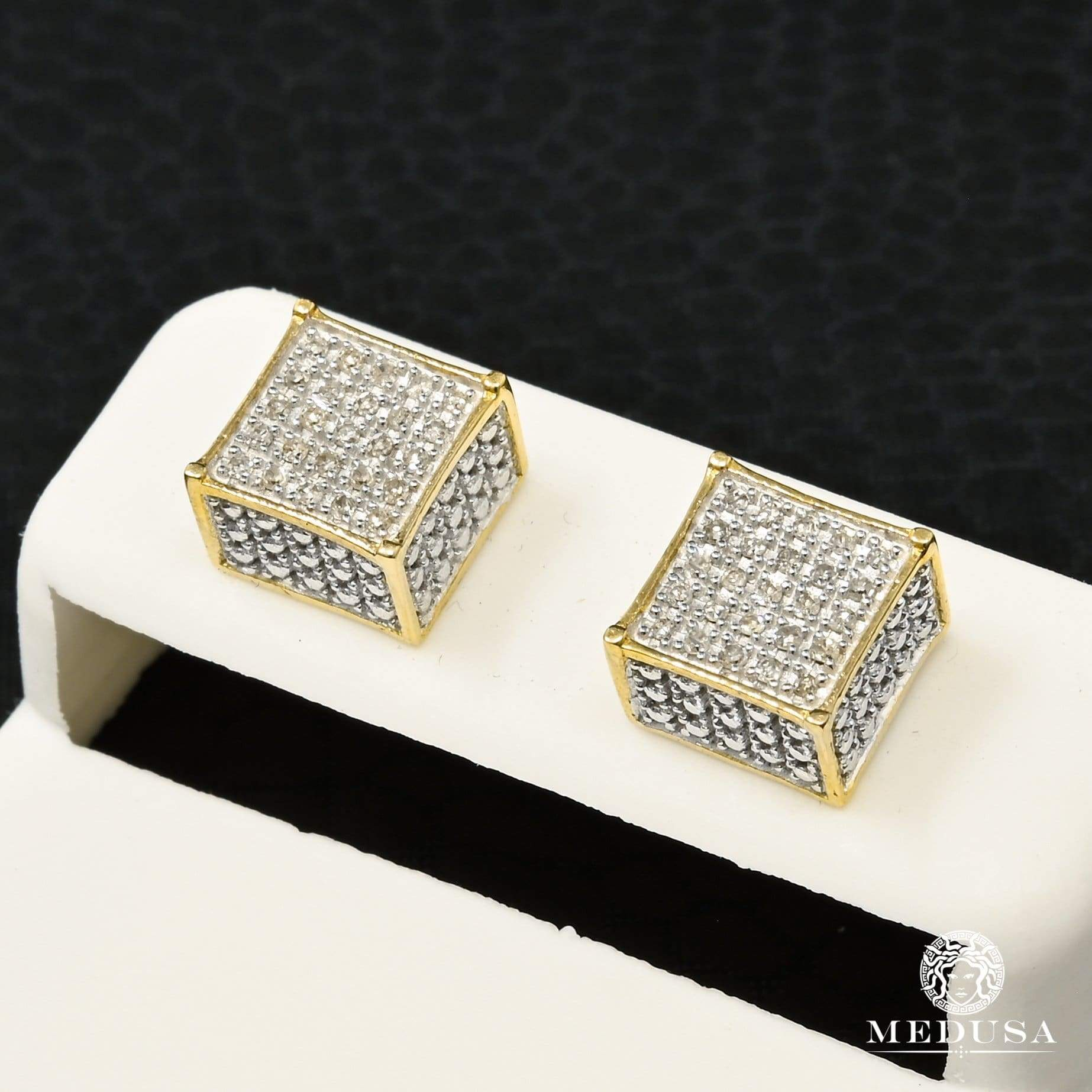 Studs Diamants en Or 10K | Boucles dOreilles Studs D1 - Diamant