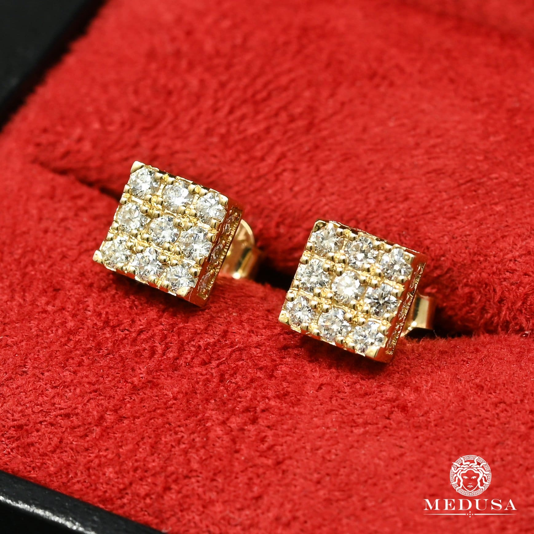 10K Gold Diamond Studs | Studs Earrings D13 - MR0012 Yellow Gold