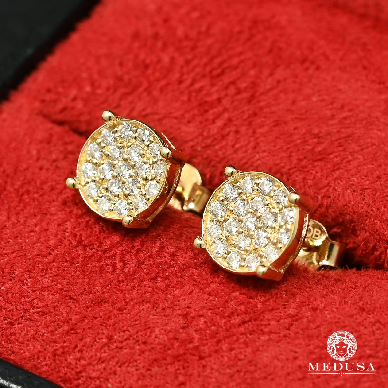 10K Gold Diamond Studs | Studs Earrings D14 - MR0010 Yellow Gold