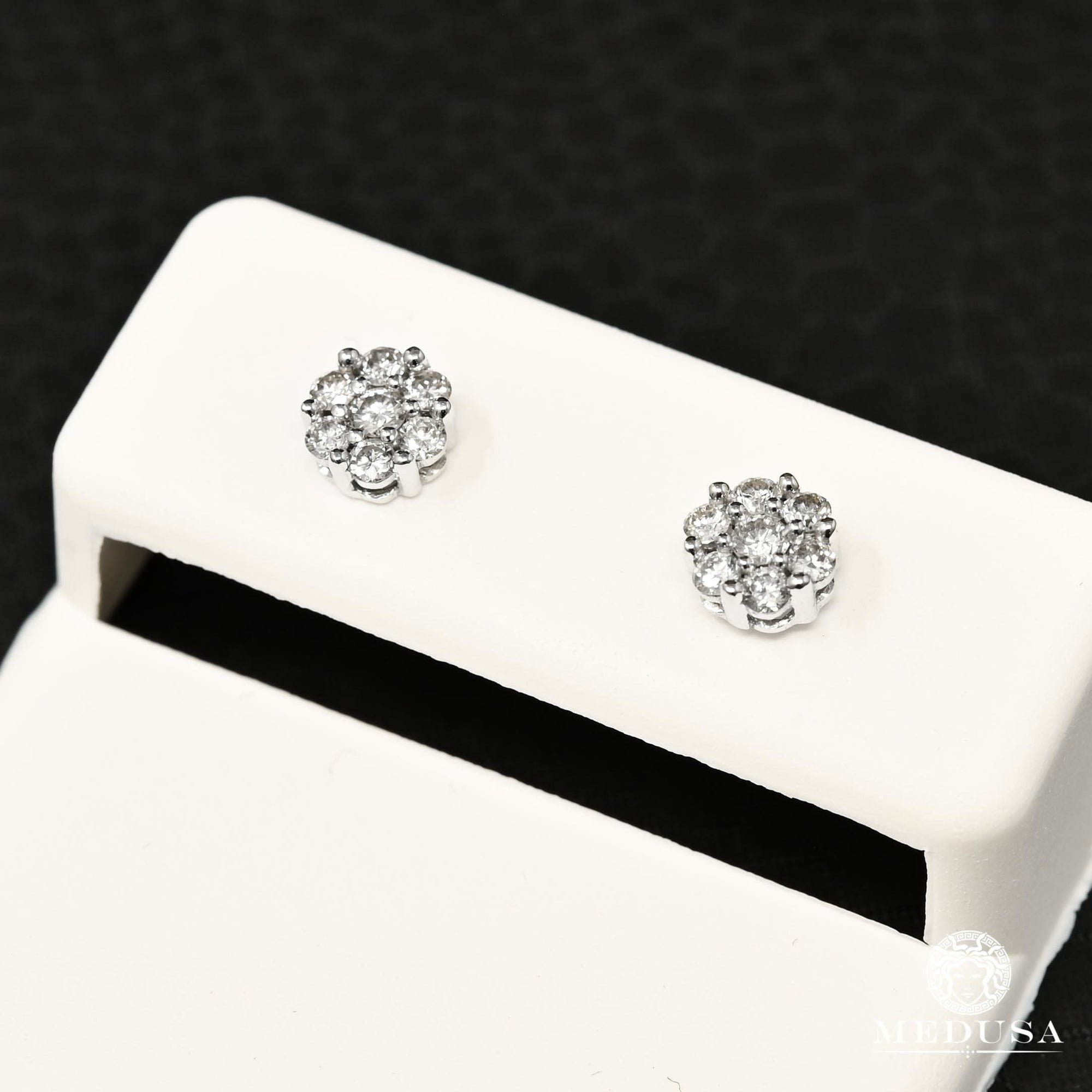 Studs Diamants en Or 14K | Boucles d'Oreilles Studs D9 - Diamant