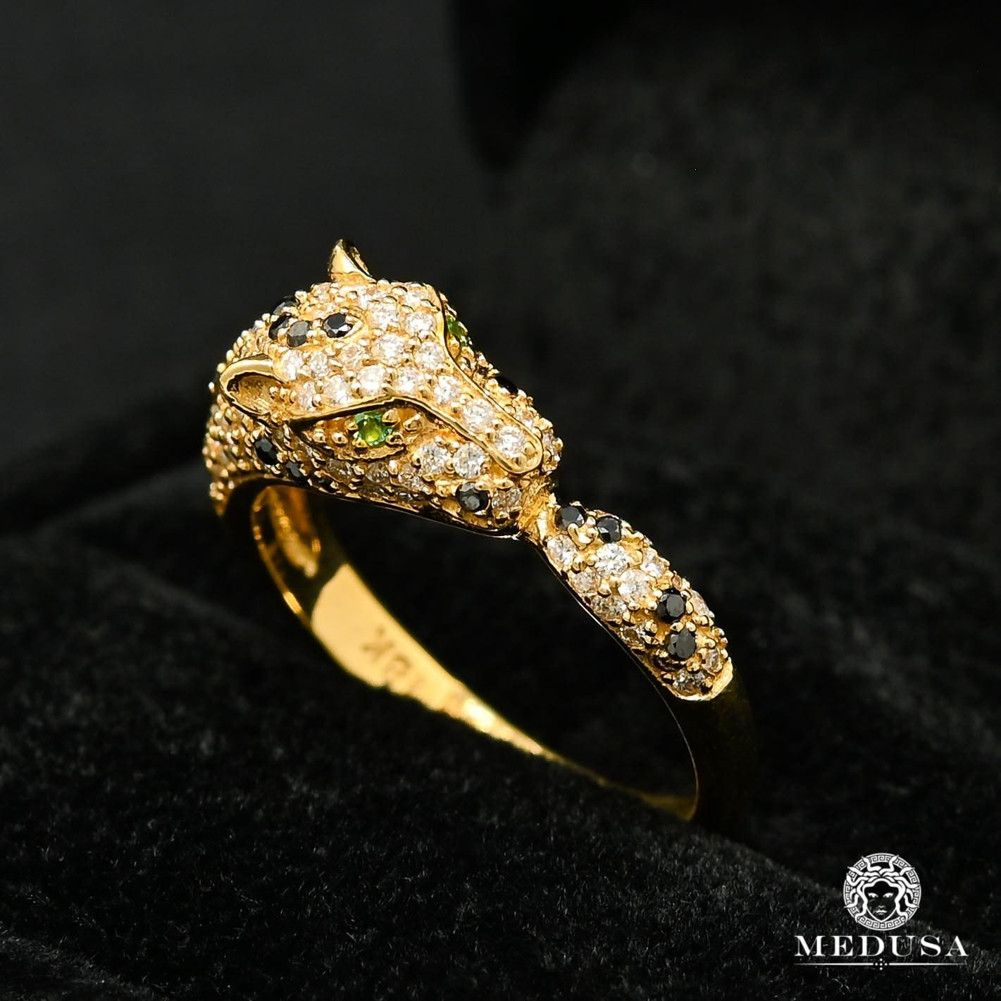 Bague à Diamants en Or 18K | Bague Femme Tiger D1 - Diamant Or Jaune