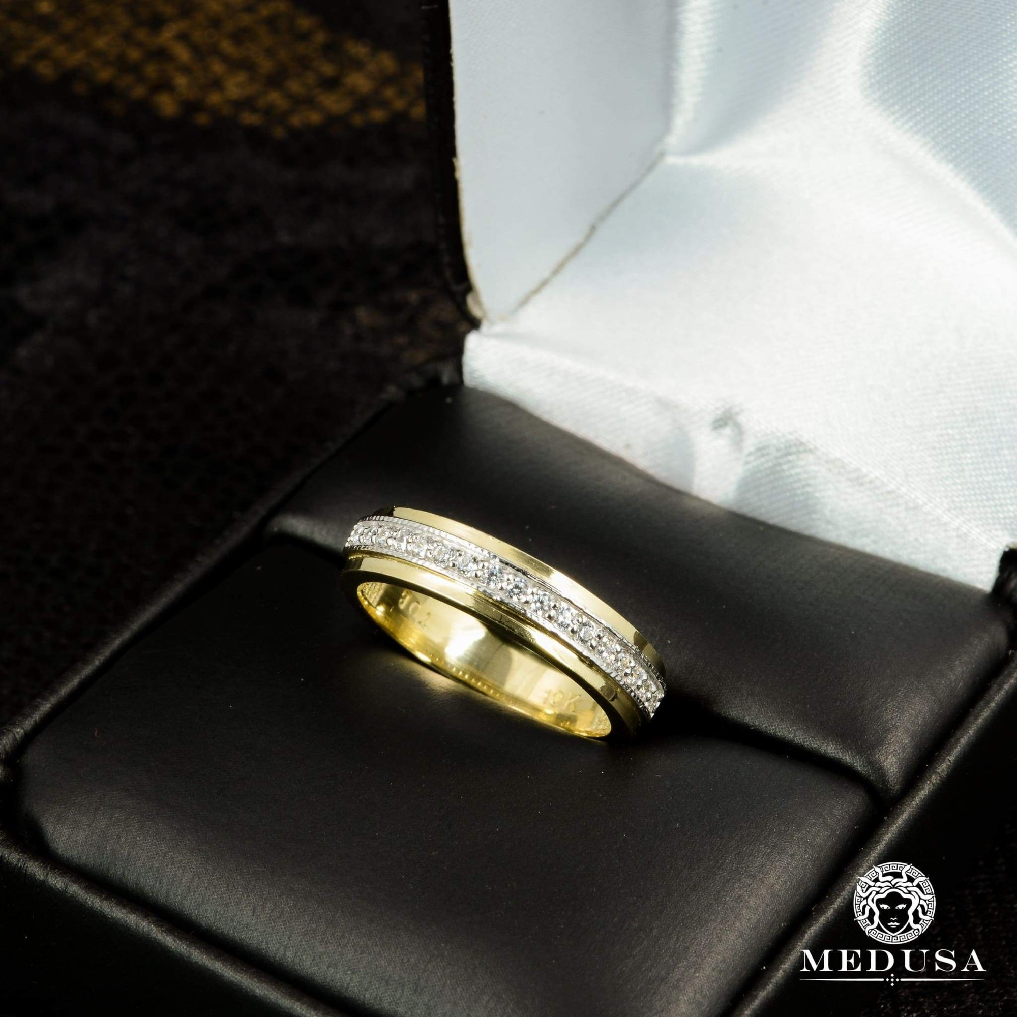 Bague à Diamants en Or 14K | Bague Fiançaille Trinity F11 - MA0736