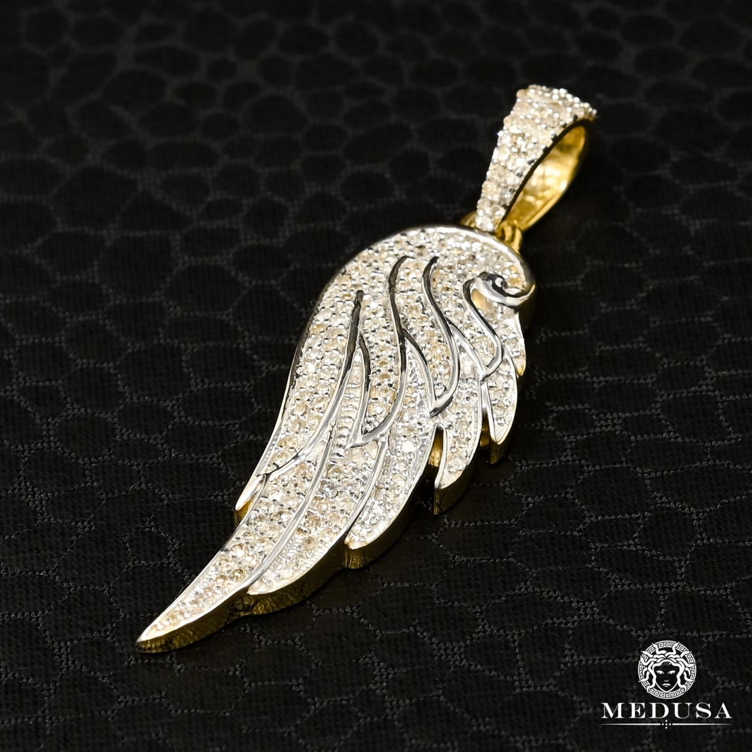 Pendentif à Diamants en Or 10K | Pendentif Divers Wings D2 - Diamant Or 2 Tons
