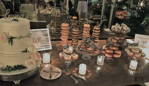 wedding donut stand