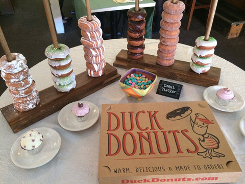 The #1 Wedding Donut Stand - Display 10-50 Donuts - Made to Order