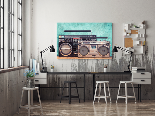 Old School Boom Boxes Poster Print