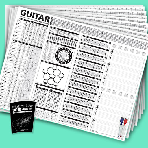 The Creative Guitar Poster Teacher's Bundle (10 Posters + 1 Book)