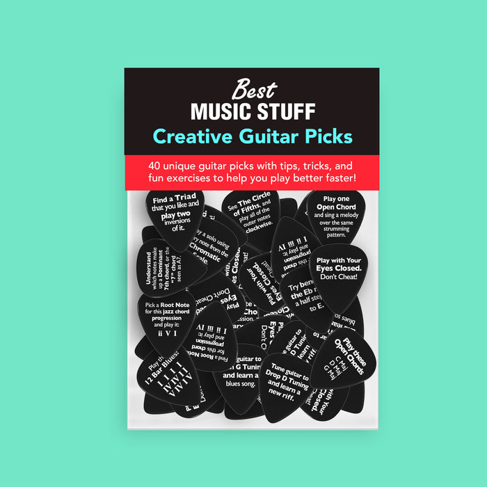 Creative Guitar Practice Picks (40 Piece Gift Set)