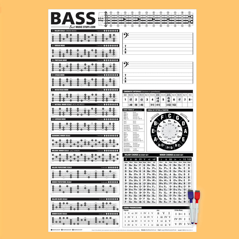 "The Creative Bass Poster (Dry-Erase) 24""x36"""