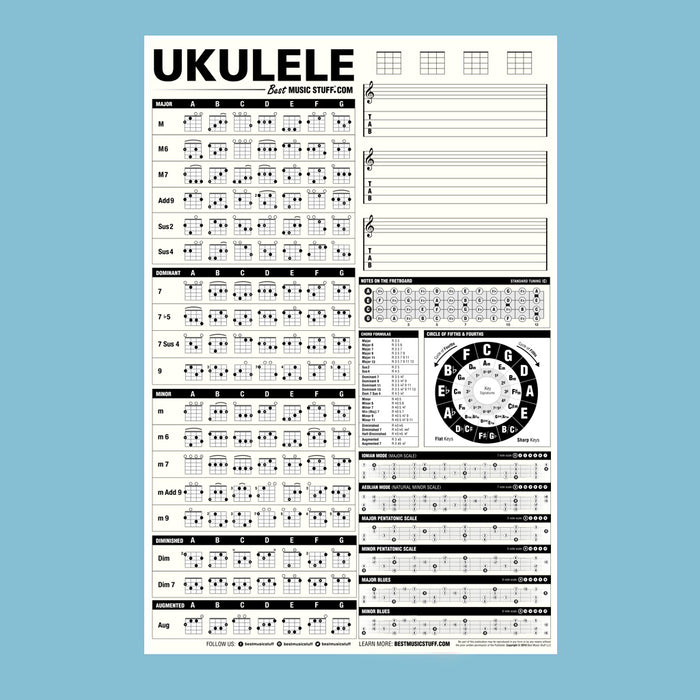 The Creative Ukulele Poster (Dry-Erase)