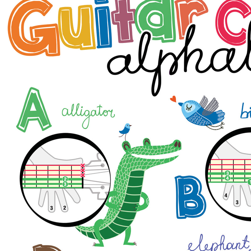 "Guitar Chords Alphabet Kids Poster 19""x27""[BOOK NOT INCLUDED]"