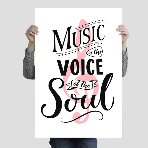 """Music Is The Voice of The Soul 1"" Poster Print 24 Inches x 36 Inches"
