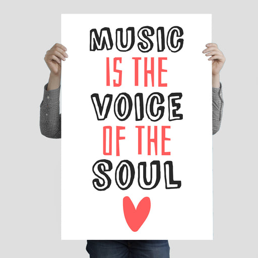 """Music Is The Voice Of The Soul 2"" Poster Print 24 Inches x 36 Inches"
