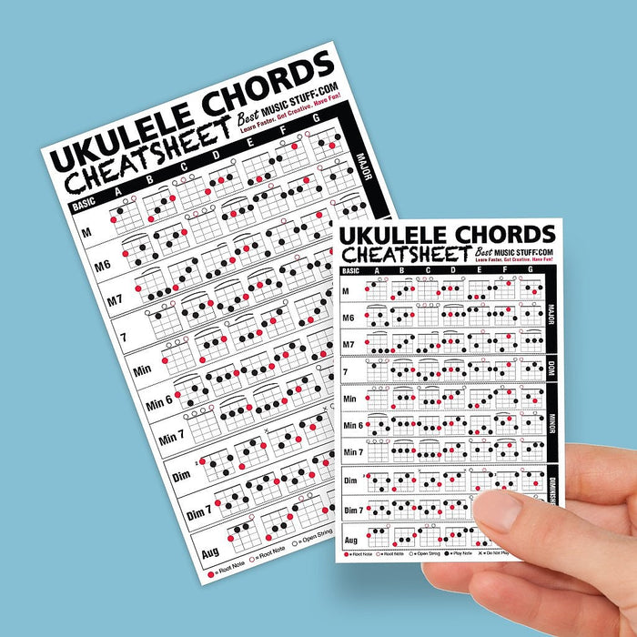 Small + Large Ukulele Cheatsheet Bundle