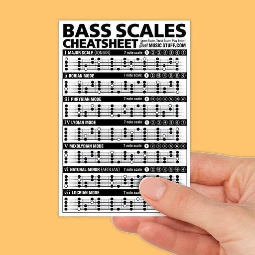 Small Bass Scales Cheatsheet