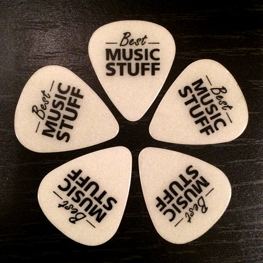 5 Glow In The Dark Guitar Picks (Medium .71mm)