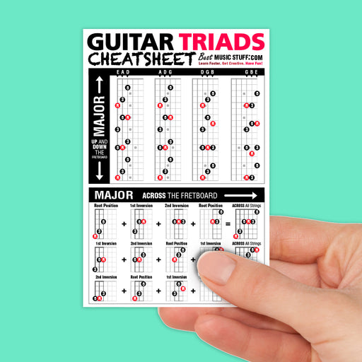 Small Guitar Triads Cheatsheet
