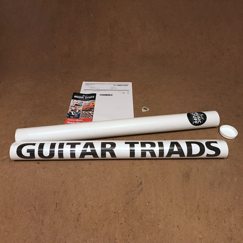 "The Ultimate Triads Guitar Poster 24""x36"""