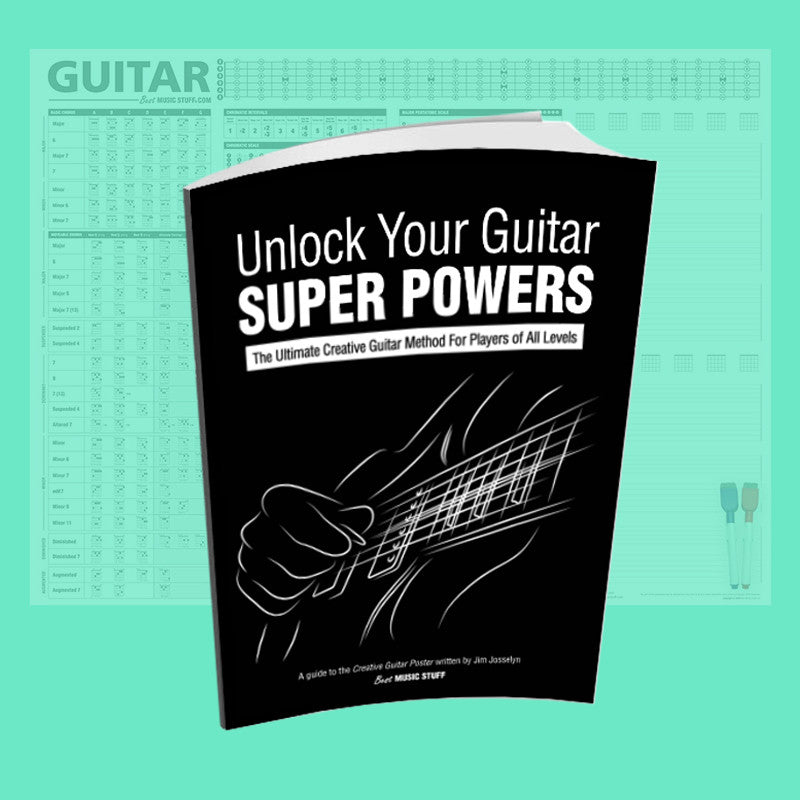 Unlock Your Guitar Super Powers Book [A Guide To The Creative Guitar Poster]