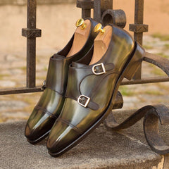 Double Monks in Patina