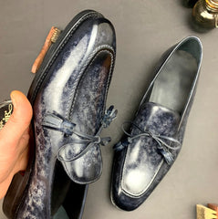 Marble Patina on Loafers