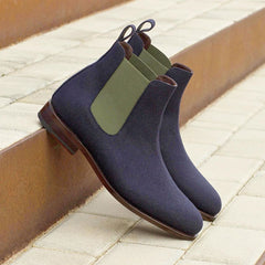 Chelsea Boots in Blue Suede