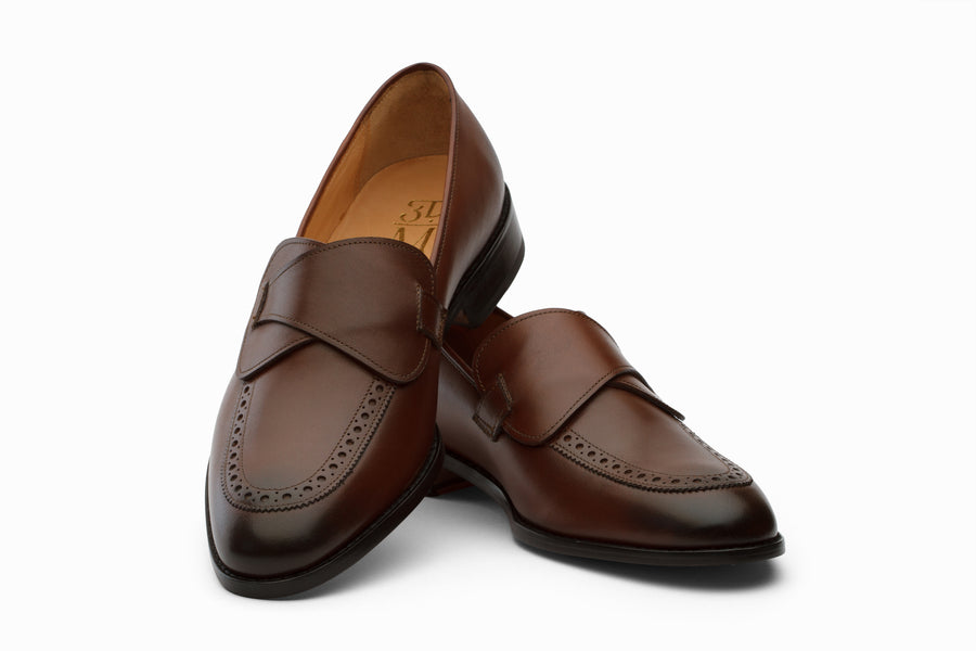 Butterfly Loafers Shoes- Brown