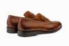 Penny Loafer Shoes - Crocodile Brown