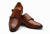 Wingtip Brogue Double Monkstrap - Dark Cognac