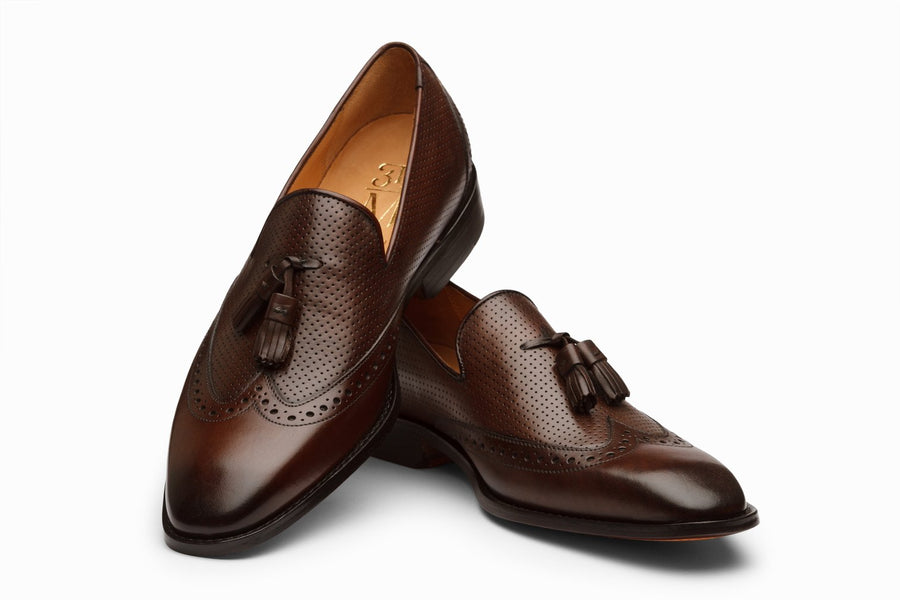 Wingtip Tassel Loafer - Dark Brown