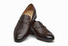 Lorenzo Leather Loafers - Dark Brown Grain