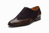 Wingtip Oxford - Dark Brown/ Navy Suede