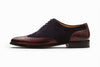 Wingtip Oxford - Navy Suede / Burgundy Leather
