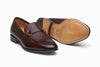 Lorenzo Leather Loafers - Burgundy Grain
