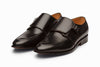 Plain Toe Single Monkstrap Shoes - Black