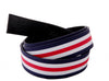 "1.5"" Canvas Blue/White/Red Strap"