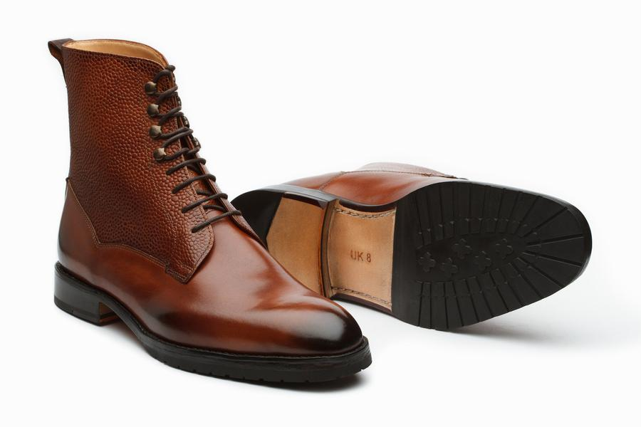 Field Grain Leather Boots - Sequoia